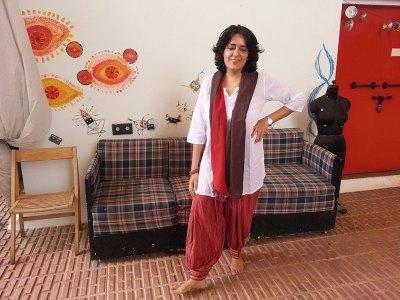 Shabnam Virmani strikes a pose for me outside her Srishti studio