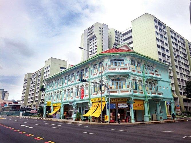 A Peranakan shophouse