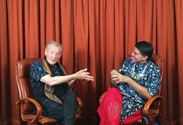Sir Ian McKellen with Parmesh Shahani