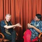 Sir Ian McKellen with Parmesh Shahani