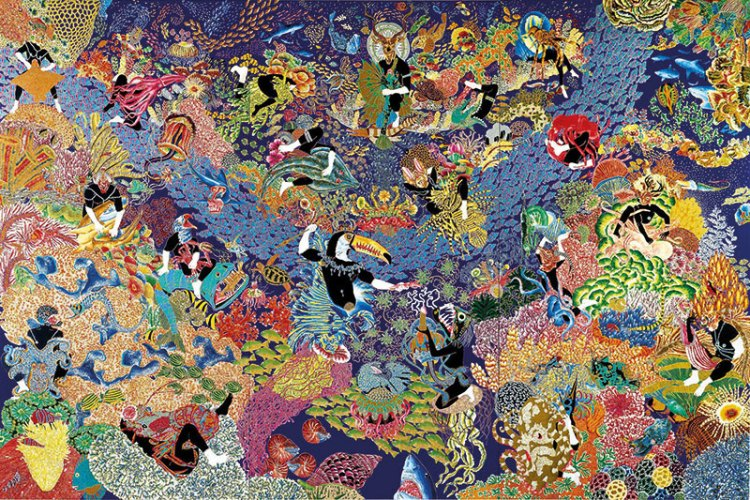 Garden of Earthly Delights II by Raqib Shaw was sold for 5.5 million dollars in London in 2007