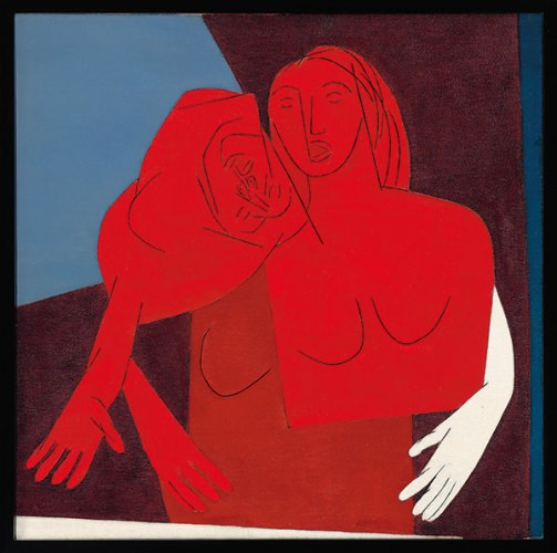 Untitled (Two Figures) by Tyeb Mehta sold for 1.7 million dollars at the Christie's Mumbai auction