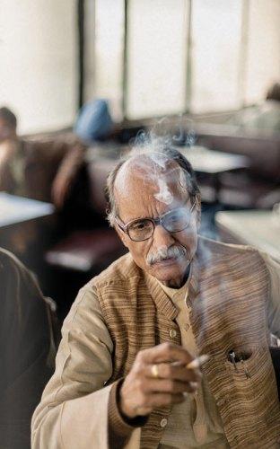 Mr Kumar, a coffee house regular, The Indian Coffee House