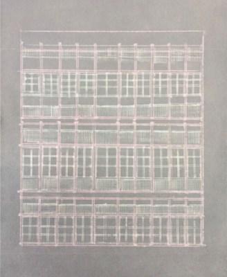 Studio Mumbai, Untitled, drawing on cement sheet