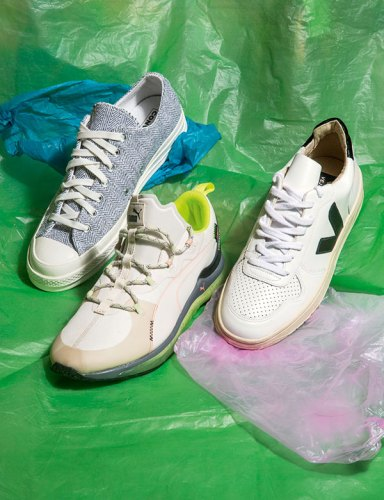 Left to right: Sneakers from Converse, Puma and Veja. (Veja is exclusively available at VegNonVeg stores in India.)