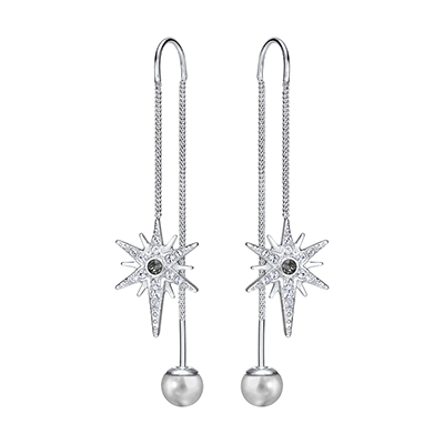 Swarovski Fantastic Pierced earrings with crystals and pearls