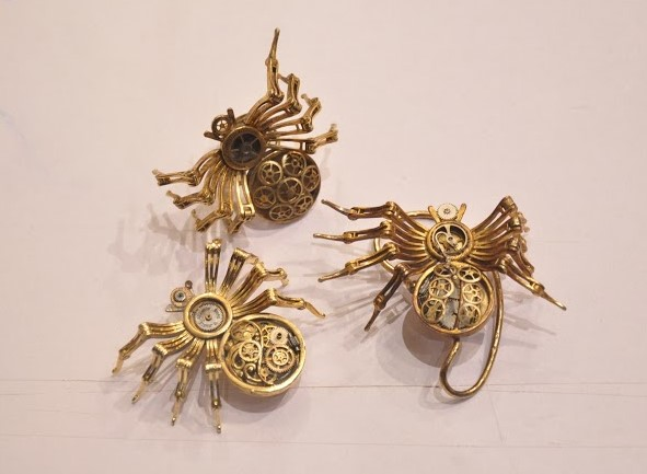Spider brooch, ring, and ear cuff retailed at Tanieya Khanuja