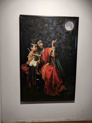 Tejal Shah's 'You Too Can Touch The Moon – Yashoda With Krishna(Hijra Fantasy Series)'