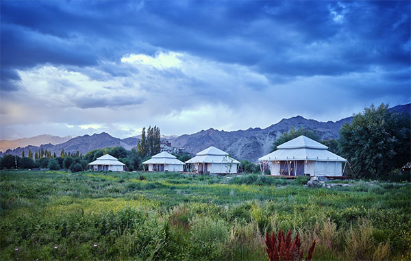 Luxury suite tents at Chamba Camp, Thiksey