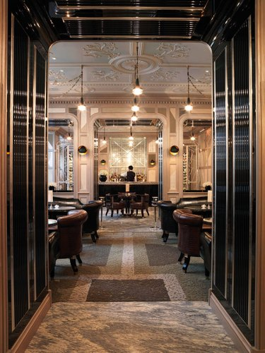 The interiors of the Connaught bar