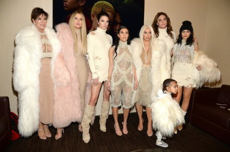 The Kardashian Jenner family at Yeezy