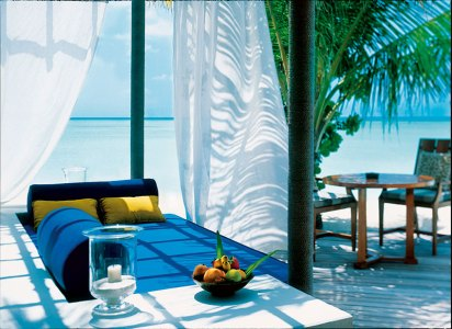 Private sit-out at the beach villa