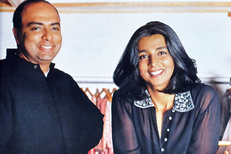 Tarun Tahiliani and Tina Tahiliani Parikh