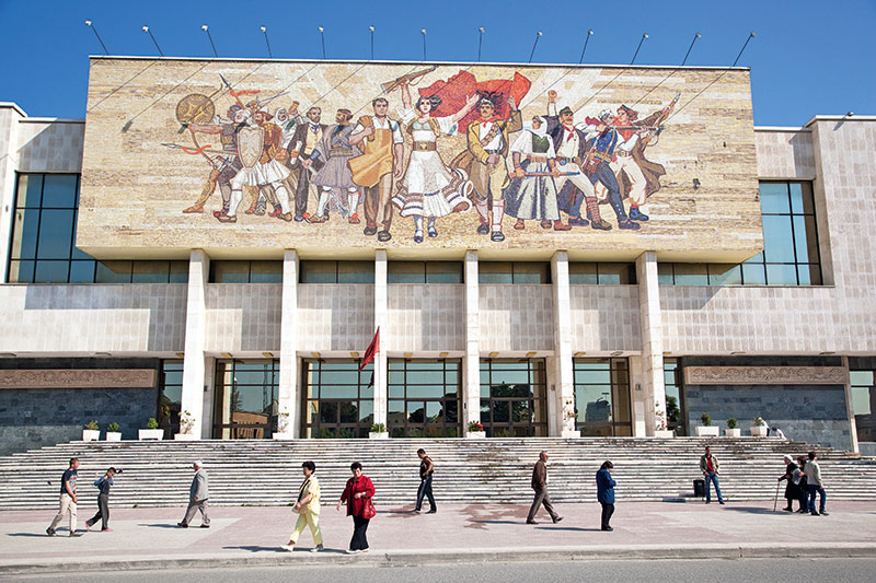 National Museum of History in Skanderbeg Square, Albania, Tirana