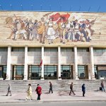 National Museum of History in Skanderbeg Square, Albania, Tirana