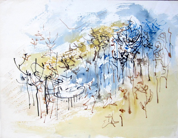 Trees in a valley