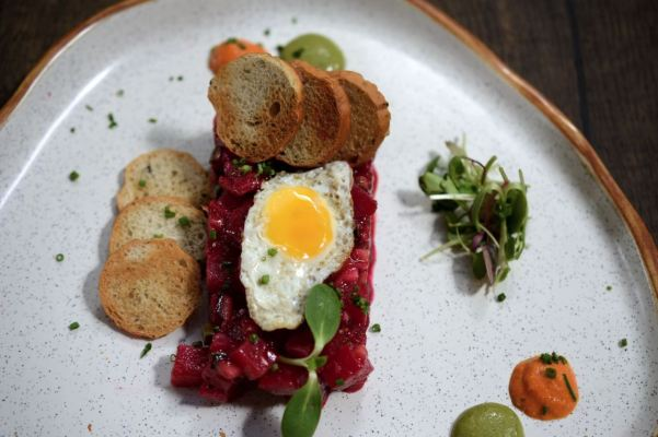 Tuna tartare with quail egg