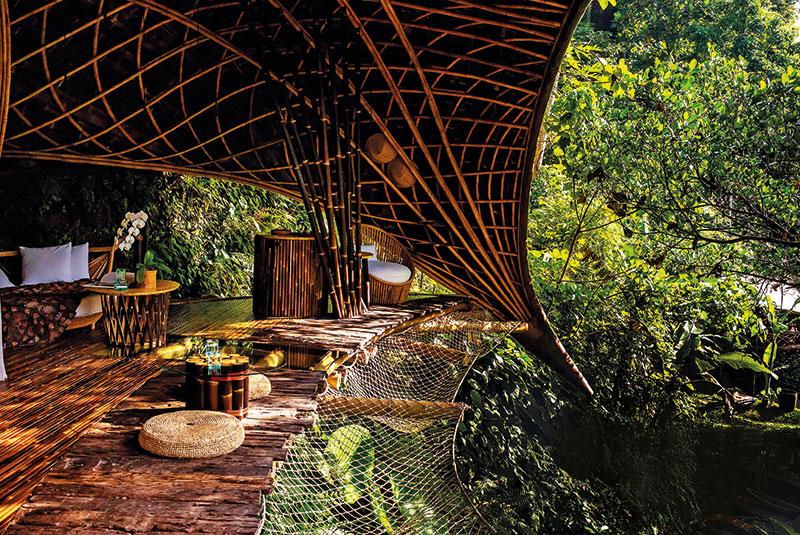 Bambu Indah's Moon house, Ubud, Bali, Indonesia