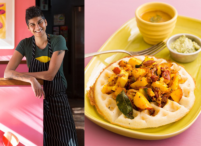 Chef, Featured, Food, Fusion Food, Indian American flavours, Juhu Beach Club, Le Cordon Bleu Culinary School, Navi Kitchen, Online Exclusive, Preeti Mistry, Top Chef
