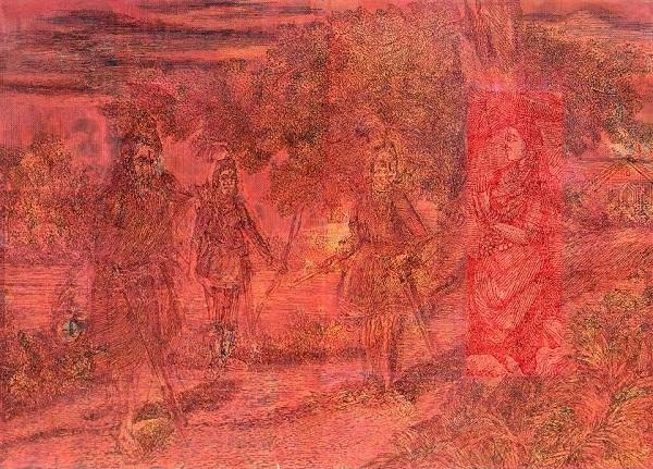 Artwork by V Ramesh at Threshold Art Gallery, New Delhi