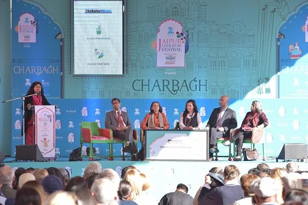 Venkat Dhulipala, Ayesha Jalal, Yasmin Khan,  Nisid Hajari, Urvashi Butalia at 'The Great Partition'