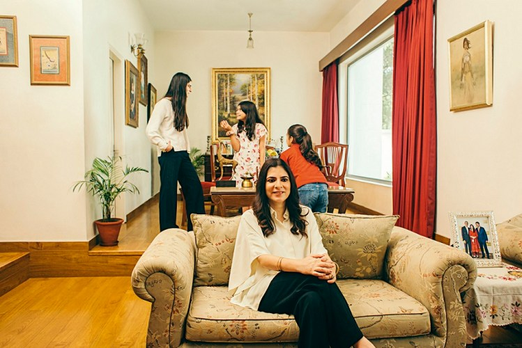 Sonia Singh with her daughters (L-R) Yaamini, Suhaani and Raagini