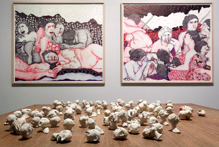 Vidha Saumya's Messes of the Afternoon on display at Galerie Mirchandani + Steinruecke