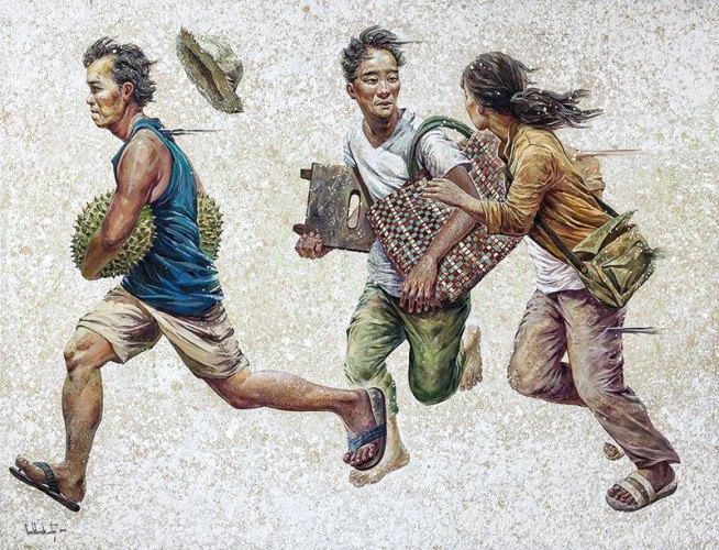 Lim Khim Katy, Moment Away, 120 X 150 cm