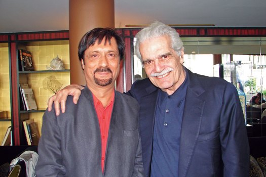 The Author (L) with Omar Sharif