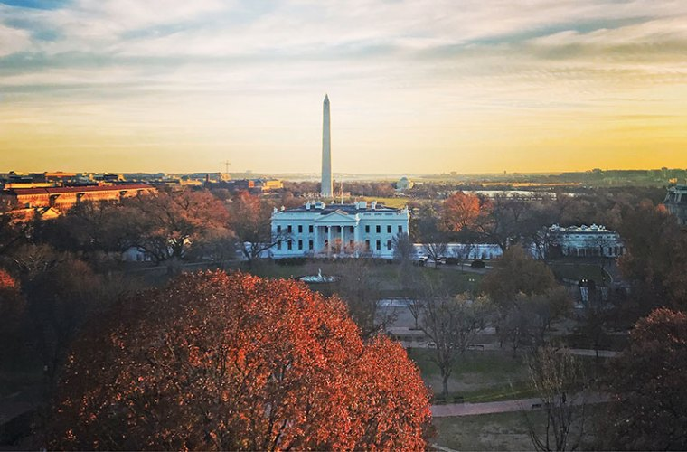 View of the White House from the suite at the Hay-Adams hotel