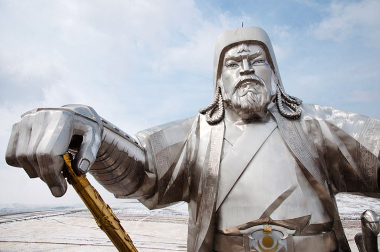 The Genghis Khan statue at Tsonjin Boldog