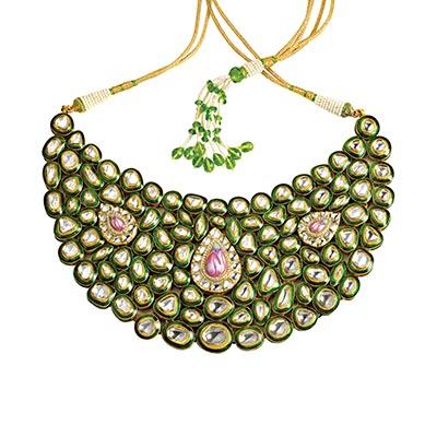Zoya Banaras necklace with uncut diamonds