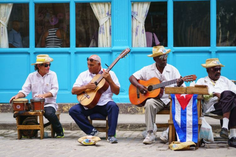 Music performances on the street are a common sight