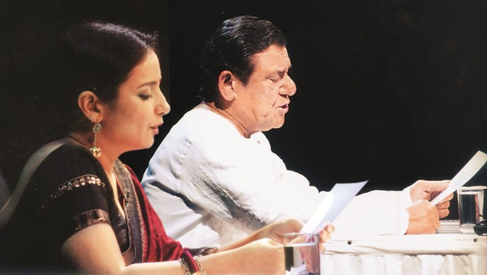 With Om Puri in Teri Amrita