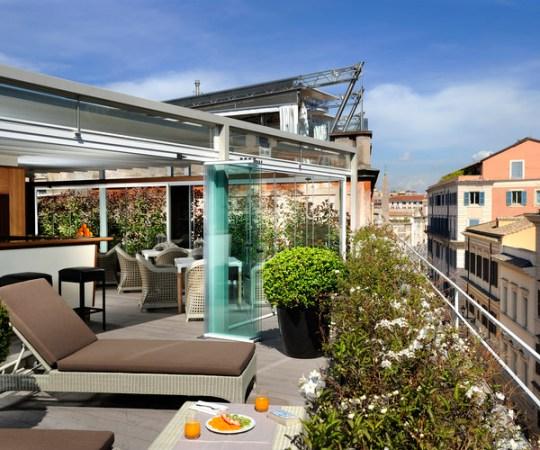 Rooftop terrace of Babuino 181