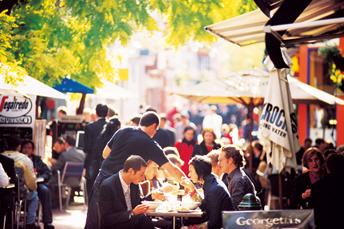 Cafes on Hardware Lane, Melbourne