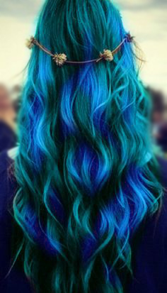 Hair Chalk: 1 If you have time and a really good friend, you could do your entire hair.