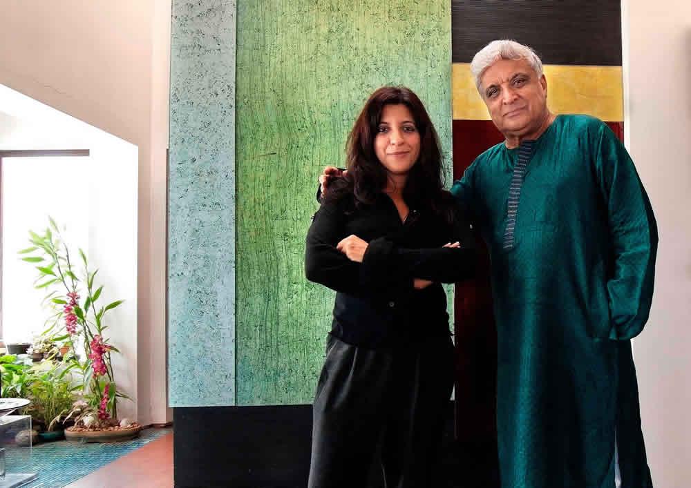 Zoya and Javed Akhtar