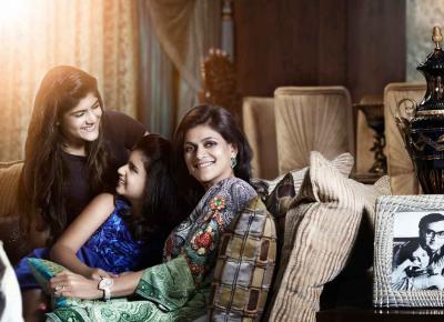 Neerja Birla with Ananyashree and Advaitesha