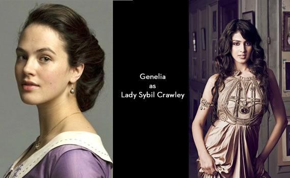 Downton Abbey India: Genelia as Sybil Crawley