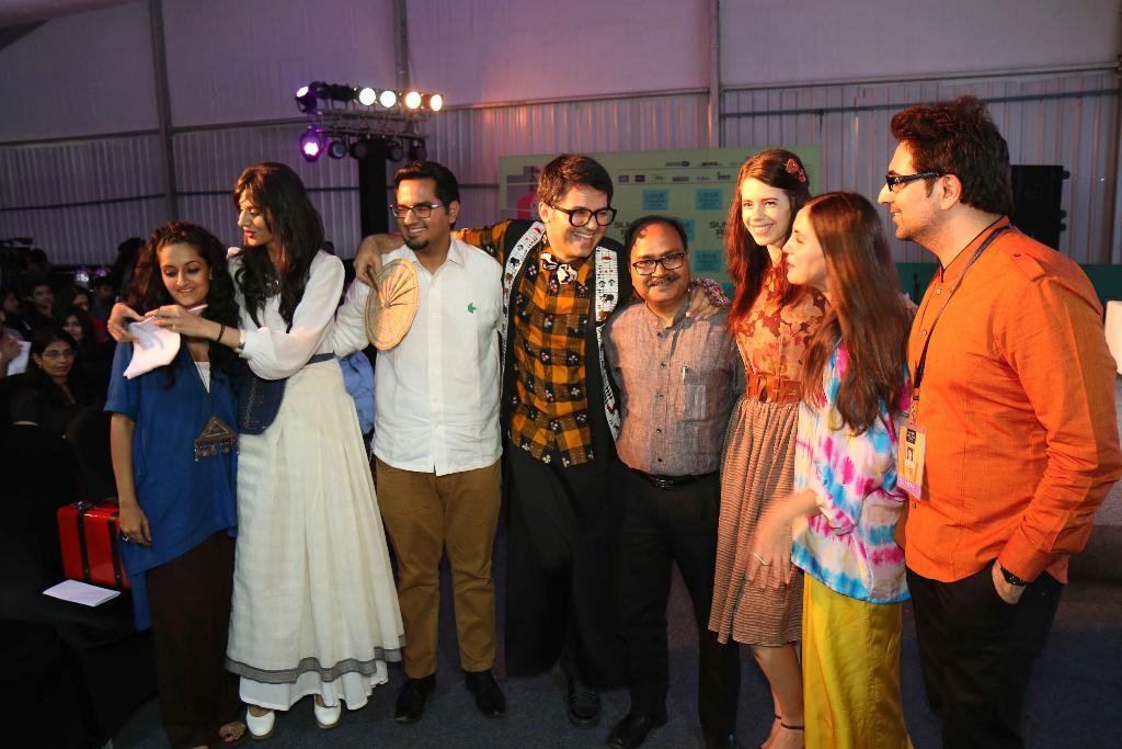 Lakme Fashion Week Textile Day panel: Payal Khandwala, Maithili Ahluwalia, Sanvar Oberoi, Parmesh Shahani, Dinesh Singh, Kalki Koechlin, Sabine Heller and Gautam Vazirani