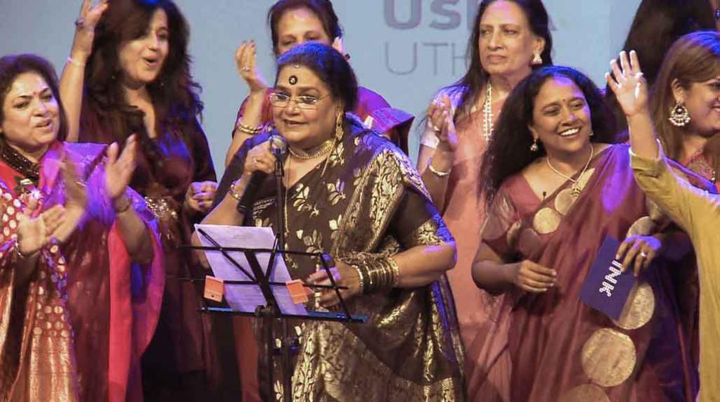 Usha Uthup and Lakshmi Pratury lead the dancing at INK Women