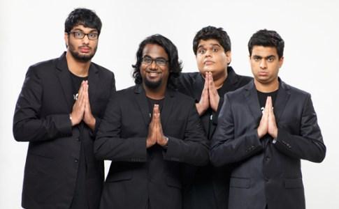 L-R: Gursimran Khamba, Ashish Shakya, Tanmay Bhat, Rohan Joshi