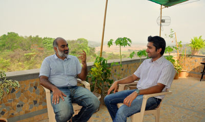 Browntape founders Gurpreet Singh and Piyush Goel at their Goa office
