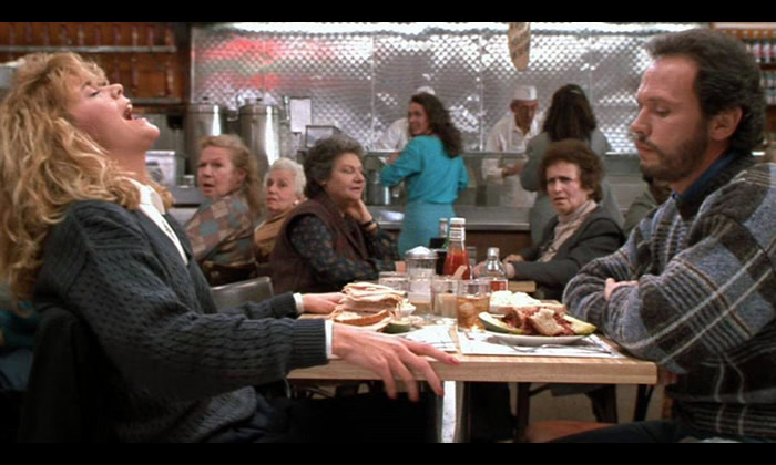 Dining etiquette from When Harry Met Sally