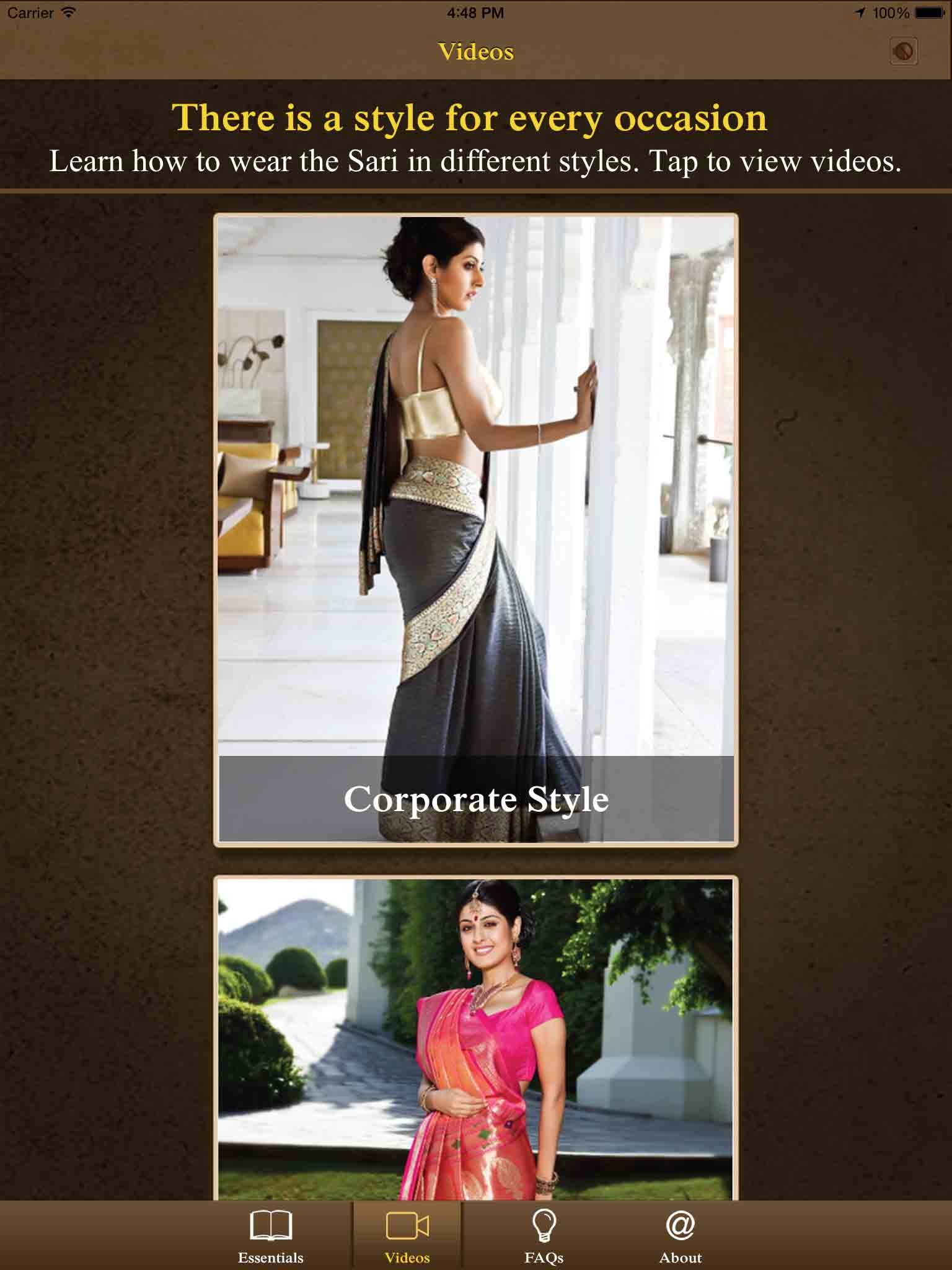 Kalpana Shah, Learn Sari,Technology, App