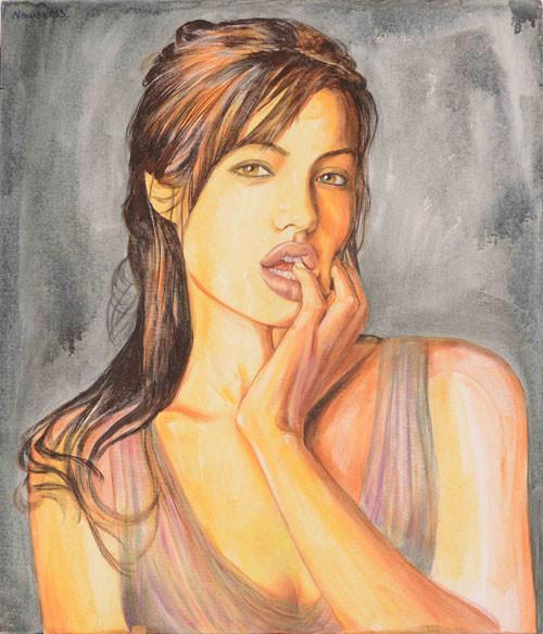 Nawaz Modi Singhania, Angelina Jolie