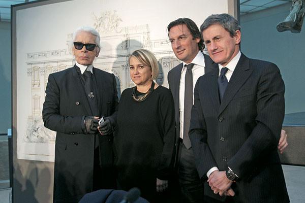 Karl Lagerfeld, Silvia Venturini Fendi, Pietro Beccari, Gianni Alemanno
