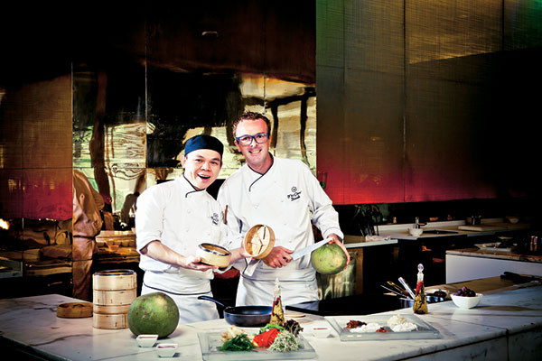 Chef NG Siew Choy and Chef Davide Rebeccato
