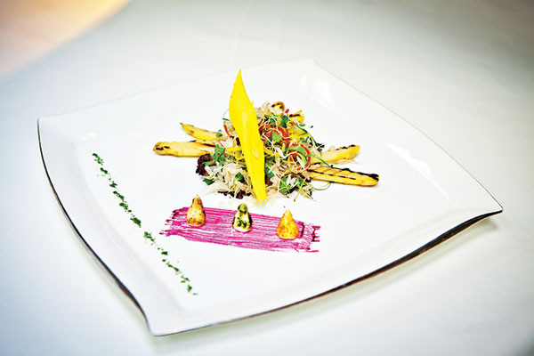 Salad Of Pomelo And White Peruvian Asparagus